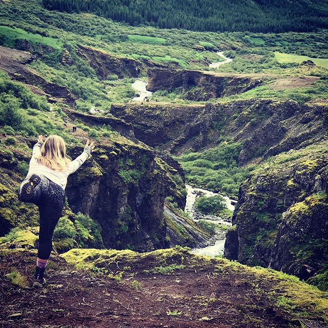 Climbed to the top of the highest waterfall in Iceland, Glymur, today. Flew in our yoga poses above the birds nesting in the canyon cracks. On top of the world beautiful! #yogajourneyswithulrika #yogaoutside #yogalifestyle #yogalife #yogaliving #yogaeverydamnday #yogaeveryday #yogainspiration #yogaretreat #yogatravel #yogalover #yogadaily #instayoga #aum