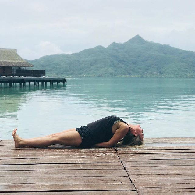 No better place to practice fish pose:) Feeling like a fish in the sea as I'm one with Vahine island. Vahine means woman in Tahitian. ##yogajourneyswithulrika #yogatravel #fish #yogaeverywhere #yogafun #yogaretreat #yogaday #yogainspiration #yogatime #yogainspiration #yogapractice #yogalifestyle #yogalove #yogalover #yogaphotography #instayoga #aum