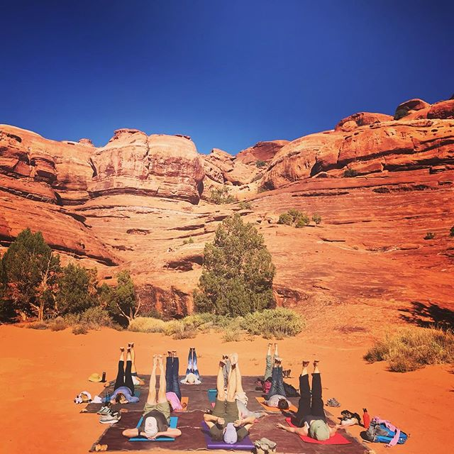 Legs up in the air, blue sky and red rocks on the Yoga Journey in Canyonlands. This is after a day of hiking while our guides are making dinner by the campfire. A life filled with the simplest pleasures, nature, friendship, good food, Yoga... greatest feeling of all is laying on the ground looking up into the sky. ..#yogajourneyswithulrika #yogaoutdoors #utah #yogafun #yogaeverywhere #yogalove #yogaretreat #yogatravel #yogajourney #yogajournal #yogalife #yogadaily #yogainspiration #iloveyoga #yogaeveryday #yogalifestyle #yogafam #instayoga #yogaforlife #yogavibes