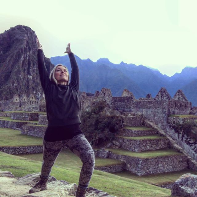 Early morning Yoga practice at Machu Picchu before the crowds. Do I blend in? Had the place pretty much to myself before I took off to Wayna Picchu to hike the peak you see in the background. Experiences like these make Yoga Journeys unique. At every destination I aim to bring us off the beaten path in yoga poses and at sacred sites.......#yogajourneyswithulrika #machupicchu #yogaretreat #yogajourney #yogateacher #yogagram #instayoga #yogalife #yogalover #yogisofinstagram #yogafam #yogaeverywhere #yogainspiration #yogalover #yogafun #yogalove #yogachallenge #yogafit #yogatravel #yogini #yogaforlife #travel #travellover #yoga #yogapose #yogapractice #yogacommunity #yogamotivation #yogapants