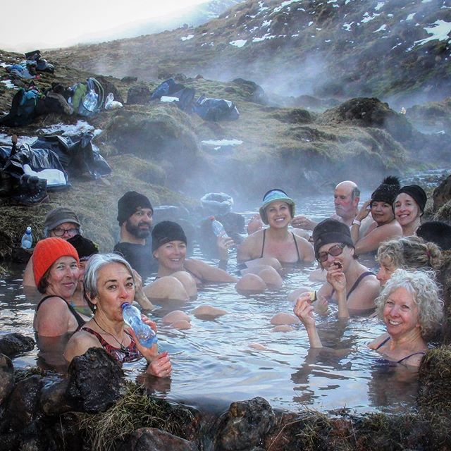 One of many fond memories from the YOGA JOURNEY in ICELAND, bathing in a hot river while our fabulous guides made us all dinner cooked in the geothermal ground. Yes, you read that right, no Farm to Table dining here, more like Earth to Mouth:) Icelandic Salmon out of the river and lamb from the hills cooked in the heat of the earth... mouthwatering good! Freshly bathed and fed we hiked back up the mountain as the sun was setting, one with the land. ....#yogajourneyswithulrika #iceland #dining #hotsprings #yogaretreat #yogajourney #yogafun #yogainspiration #yogaeverywhere #yogisofinstagram #instayoga #instatrip #yogalife #yogalifestyle #yogalover #yogaeveryday #yogini #yogafam #yogacommunity #yogaeveryday #yogatravel #travelblogger #namaste #yogateacher #yogaforlife #memory #lovelovelove #yogagram #yogabums
