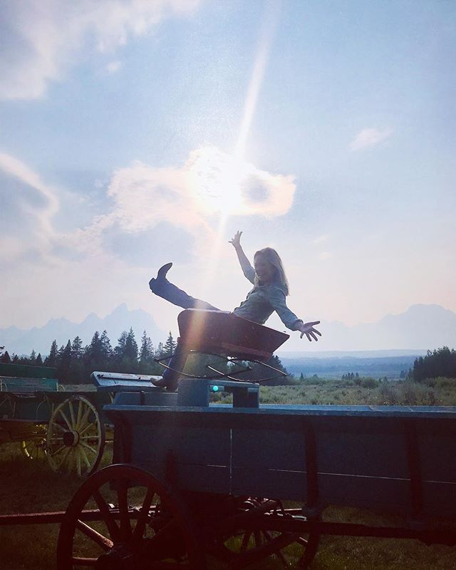 We've arrived at the ranch in the Grand Tetons. Setting out on our horseback Yoga Journey camping adventure early in the morning. First some yoga on the wagon. .....#yogisofinstagram #yogajourneyswithulrika#yogalife #yogatime #yogaretreat #yogajourney #yogalover #horselover #giddyup #grandtetons #yogini #yogi #instayoga #yogagram #instayoga #yogadaily #yogaeverywhere #yogaeveryday #yogateacher #yogapractice #yogafun#yogainspiration #yogatravel #yogainstructor