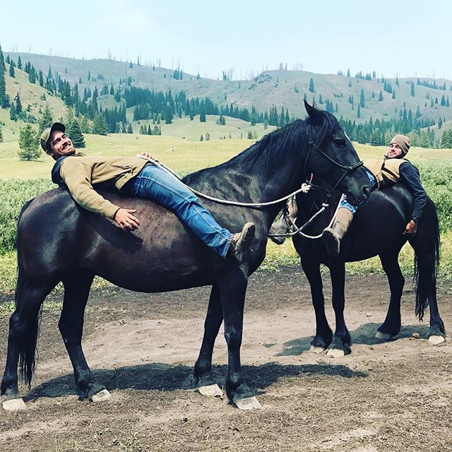 Turned our fabulous wranglers into yogis on the Horseback Yoga Journey into the Grand Tetons wilderness. We are all back in Jackson Hole after a wild ride and fabulous weeklong adventure. So thankful to @collinmc6 @caderogers26, Brent and @ian_kordonis for making it such a memorable and thrilling experience. ....#yogajourneyswithulrika #yogalife #yogaretreat #yogatravel #yogajourney #grandtetons #wilderness #yogis #yogaeverywhere #yogalover #yogalovers #yogi #yogafun #yogainspiration #yoga #horseyoga #horselover #horselovers #wrangler #yogaoutside #yogaoutdoors #horsebackriding #jacksonhole #yogalife #yogalifestyle #yogachallenge #yogaeverydamnday #yogaposes