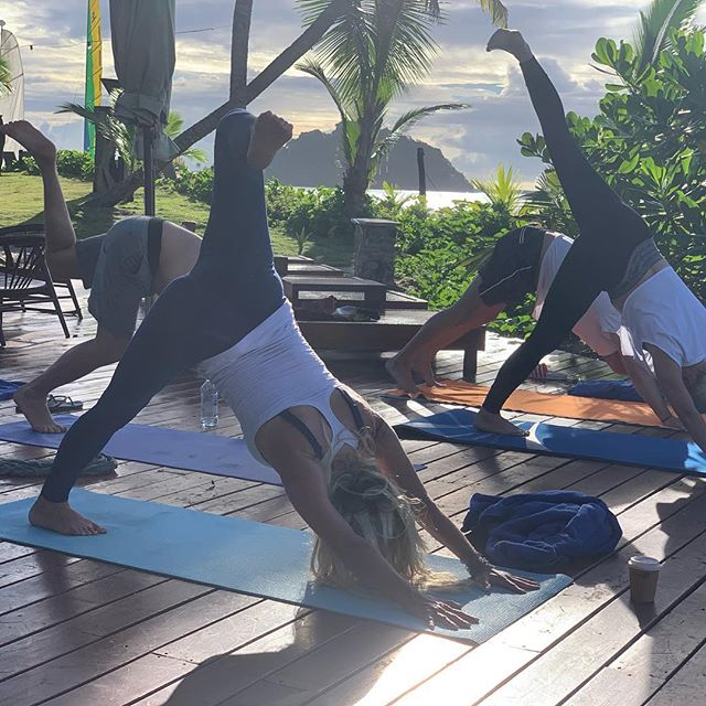 Yoga poses evolve as we expose ourselves to the elements of FIJI. The morning practice revolved around breaking down beliefs being anything less than the sun, the moon and the earth, filling up on the island beauty. .....#yogajourneyswithulrika #yogalife #yogaposes #yogapractice #yogatravel #yogaretreat #yogajourney #yogini #yogalove #yogainspiration #yogaeveryday #yogaeverywhere #yogatime #yogadaily #yogafun #yoga #yogisofinstagram #instayoga #yogalove #yogalover #yogini #yogateacher #yogateachertraining #fiji #yogabody #yogaforlife #yogaforever #yogaprogress