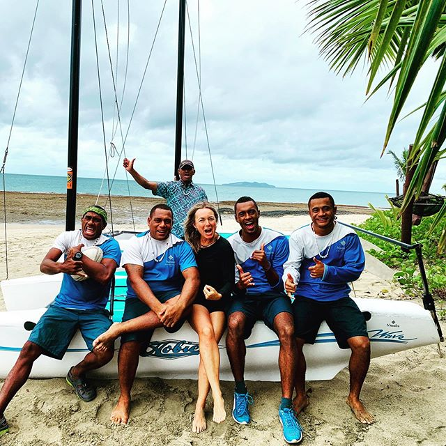 Heres part of our happy crew on the Yoga Journey in FIJI ??Such happy, free spirited, easy going people, ready to play anytime. Yes, their job on our yoga retreat was to be our play buddies snorkeling, sailing, hiking, biking to the village, kayaking. Fiji is calling me back!.....#yogajourney #yogalife #yogajourneyswithulrika #yogalover #yogalifestyle #yogatime #yogaretreat #instayoga #yogaeverywhere #yogainspiration #yogajournal #yogatravel #fiji #yogafun #yogaoutside #smile #yogaeverydamnday #yogadaily